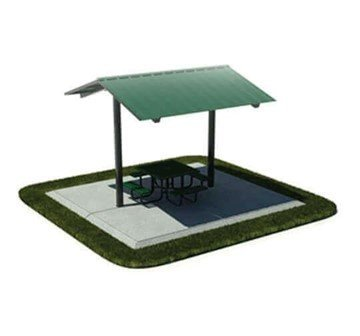 12' X 12' All-Steel Mini Shelter, Surface Mount