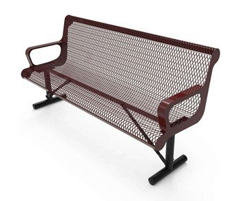 RHINO 4 Ft. Thermoplastic Polyolefin Coated Contour Bench With Back