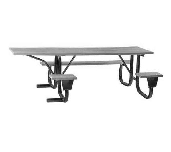 8 Ft Ada Aluminum Picnic Table With Welded Galvanized