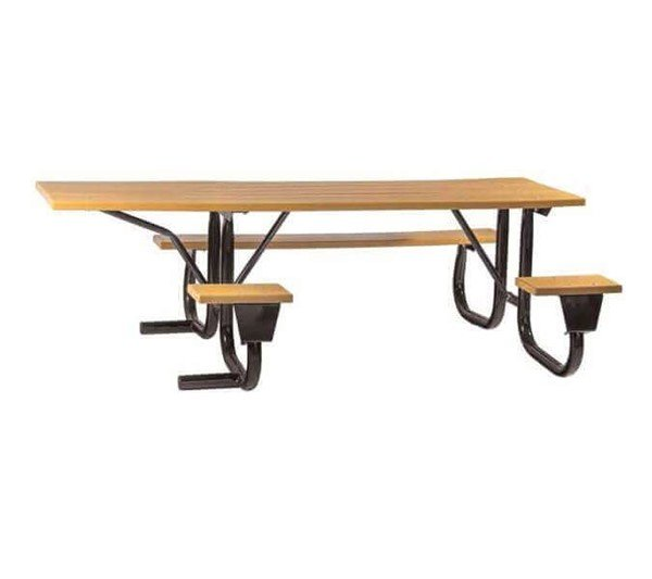 12 Ft. ADA Wooden Picnic Table With Welded Galvanized Steel Frame