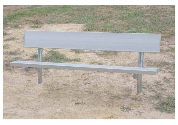 Picture of 15 ft. Aluminum Park Bench With Galvanized Steel Frame - 93 lbs.