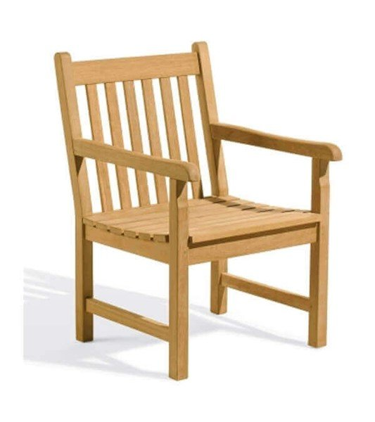 Shorea Wooden Arm Chair With Easy Assembly