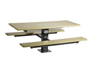 6 Ft. Wooden Pedestal Picnic Table