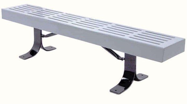 4 Ft. Slatted Style Thermoplastic Backless Bench