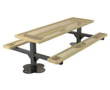 8 Ft. Regal Style Expanded Plastic Coated Picnic Table