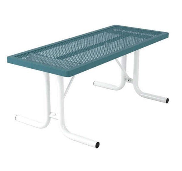 6 Ft. Regal Style Expanded Plastic Coated Rectangular Picnic Tables Without Bench