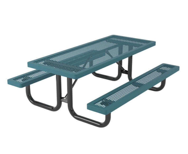 6 Ft Heavy Duty Thermoplastic Coated Expanded Picnic Table