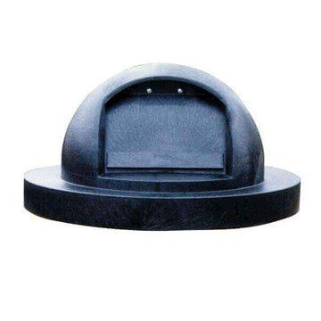 22 Gallon Molded Plastic Dome Top Lid with Spring Loaded Self Closing Door