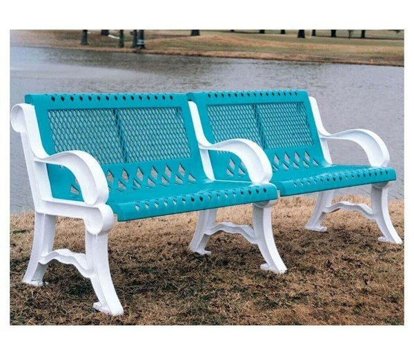 4 Foot Villa Style Thermoplastic Steel Bench