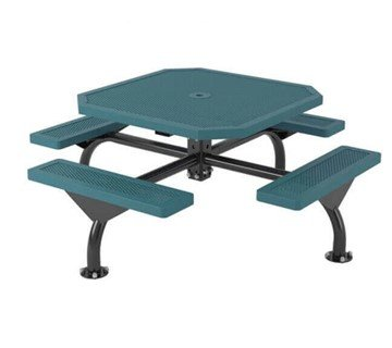 "46"" Octagon Innovated Web Style Polyethylene Plastic Coated Metal Picnic Table"