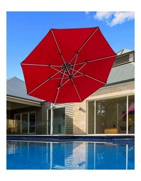 11 ft. Octagonal Aluminum Cantilever Umbrella with Marine Grade Fabric