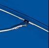 6.5 Foot Acrylic Lifeguard Printed Umbrella Zinc Coated Steel Ribs