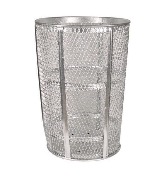Galvanized 48 Gallon Expanded Style Steel Street Basket Quick Ship