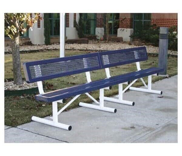 10 Ft Regal Style Polyethylene Coated Portable Bench 196 Lbs