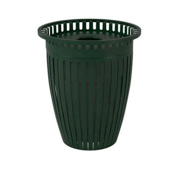 Crown Style 32 Gallon Steel Waste Receptacle & Liner W/ Flared Top