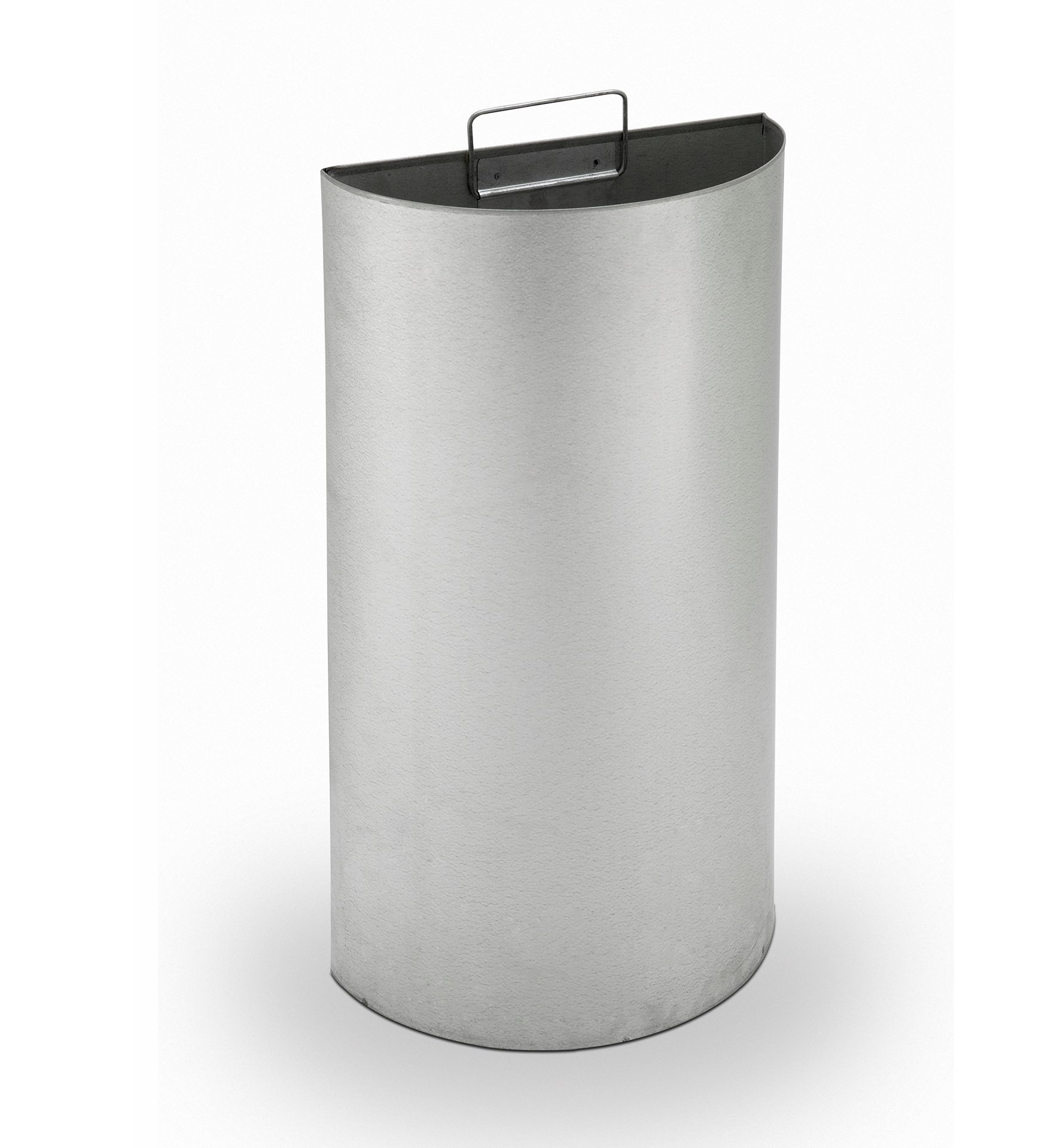 15 Gallon Precision Half Moon Stainless Steel Trash