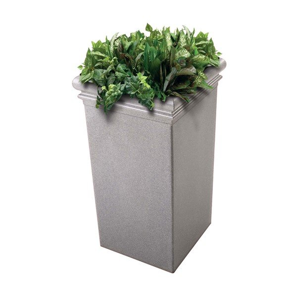 33 Inch Tall StoneTec Commercial Planter Ashtone