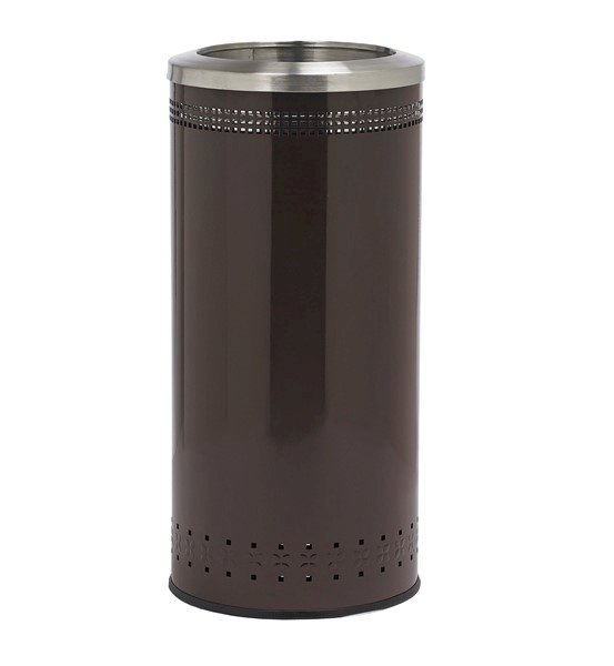25 Gallon Precision Steel Round Receptacle With Open Top