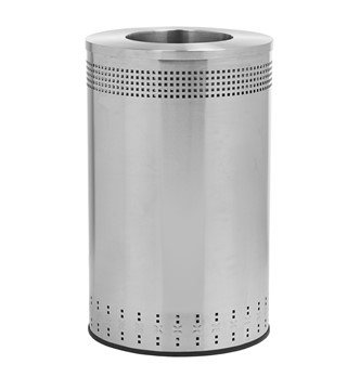 45 Gallon Precision Steel Round Receptacle With Open Top