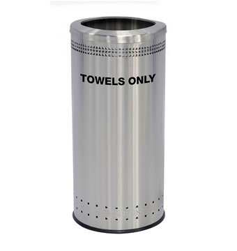 25 Gallon Precision Stainless Steel Round Towel Receptacle