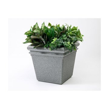 18 Inch Tall StoneTec Commercial Planter Ashtone