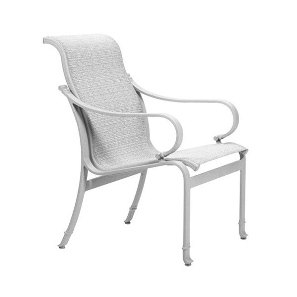 Torino Sling Patio Dining Chair - 14.5 lbs. Front