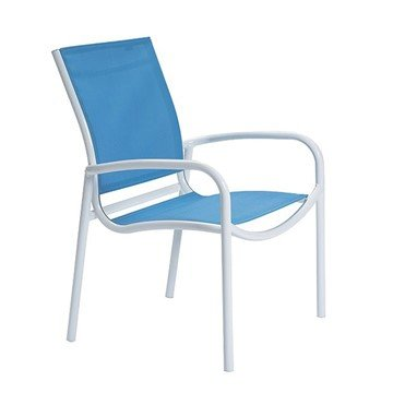 Millennia Relaxed Sling Dining Chair with Aluminum Frame - 9.5 lbs.