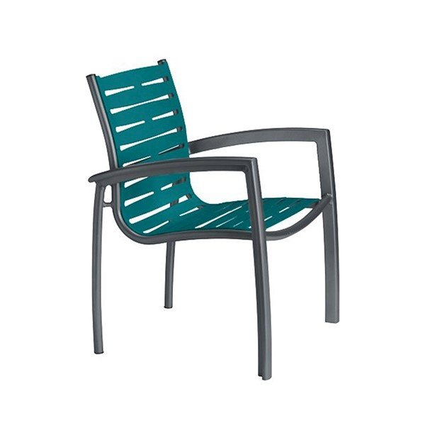 South Beach EZ Span Vinyl Strapped Dining Arm Chair - 12 lbs.