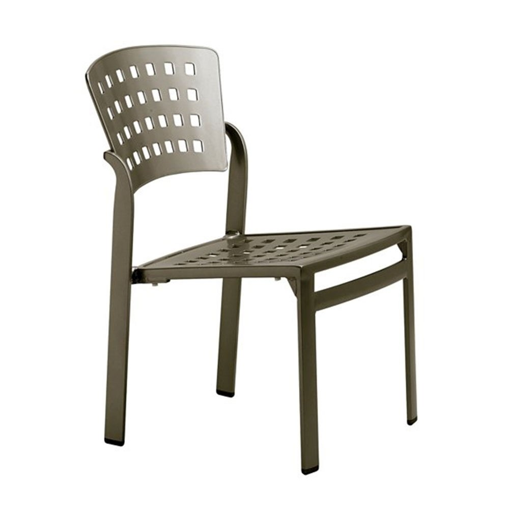 Impressions Cast Aluminum Armless Side Chair   14 Lbs.
