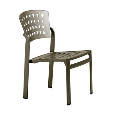 Impressions Cast Aluminum Armless Side Chair - 14 lbs.