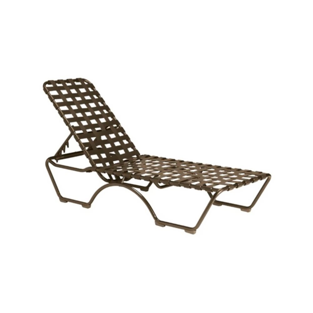 kahana crossweave vinyl strap chaise lounge with aluminum frame. Black Bedroom Furniture Sets. Home Design Ideas