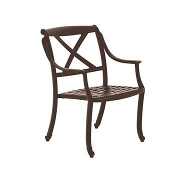 "BelMar Cast Aluminum Framed Dining Chair - Neo-Classic ""X"" Back - 14 lbs."