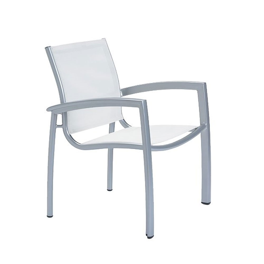 South Beach Relaxed Sling Dining Chair With Aluminum Frame