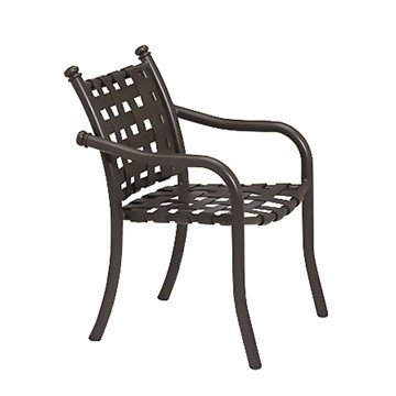 La Scala Crossweave Strap Dining Chair with Aluminum Frame - 14 lbs.