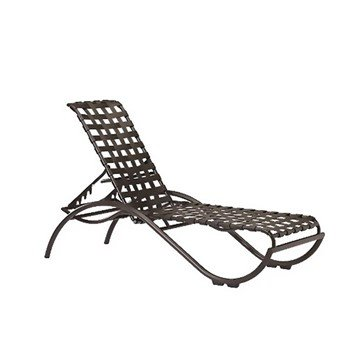 La Scala Crossweave Strap Chaise Lounge with Aluminum Frame - 23 lbs.