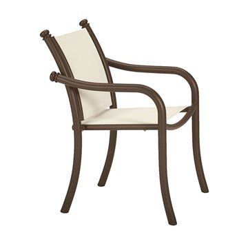 La Scala Relaxed Sling Dining Chair with Aluminum Frame
