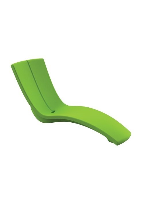 Curved In Pool Rotoform Polymer Chaise Lounge Furniture