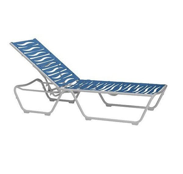 Millennia Wave Segment EZ Span Chaise Lounge With Armless Aluminum Frame