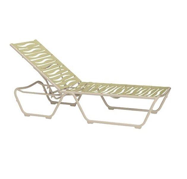 Millennia ez span chaise lounge with armless aluminum for Aluminum frame chaise lounge