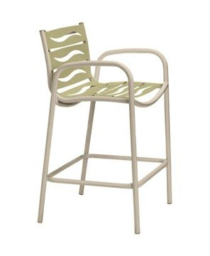 Millennia EZ Span Wave Segment Bar Stool With Aluminum Frame