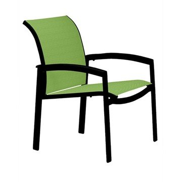 Elance Relaxed Sling Dining Chair with Aluminum Frame