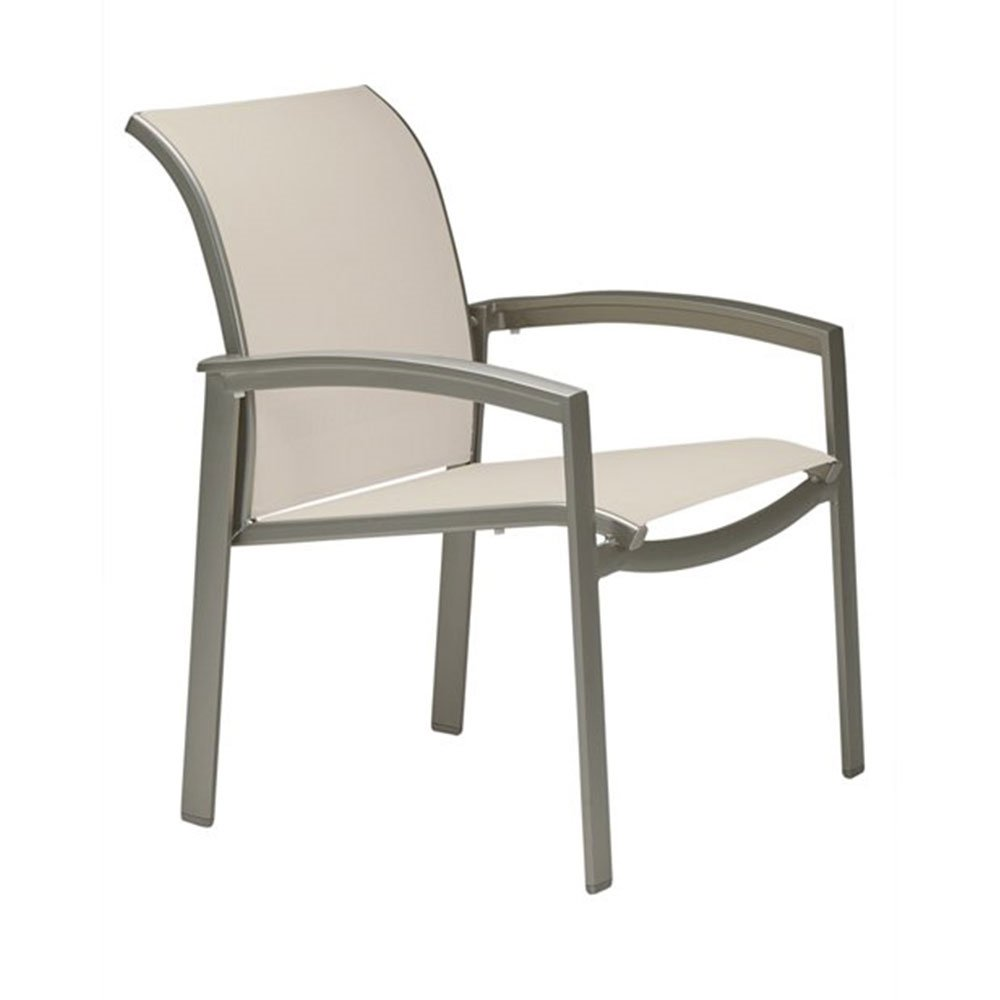 relaxed sling dining chair with aluminum frame furniture leisure