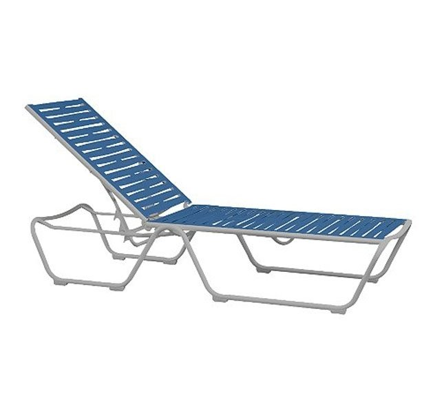 Millennia ez span chaise lounge with armless aluminum for Armless chaise longue