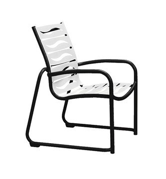 Millennia EZ Span Vinyl Dining Chair With Sled Base Aluminum Frame