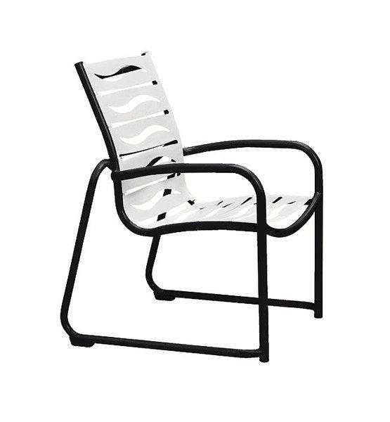 Millennia EZ Span Vinyl Dining Chair With Sled Base Aluminum Frame