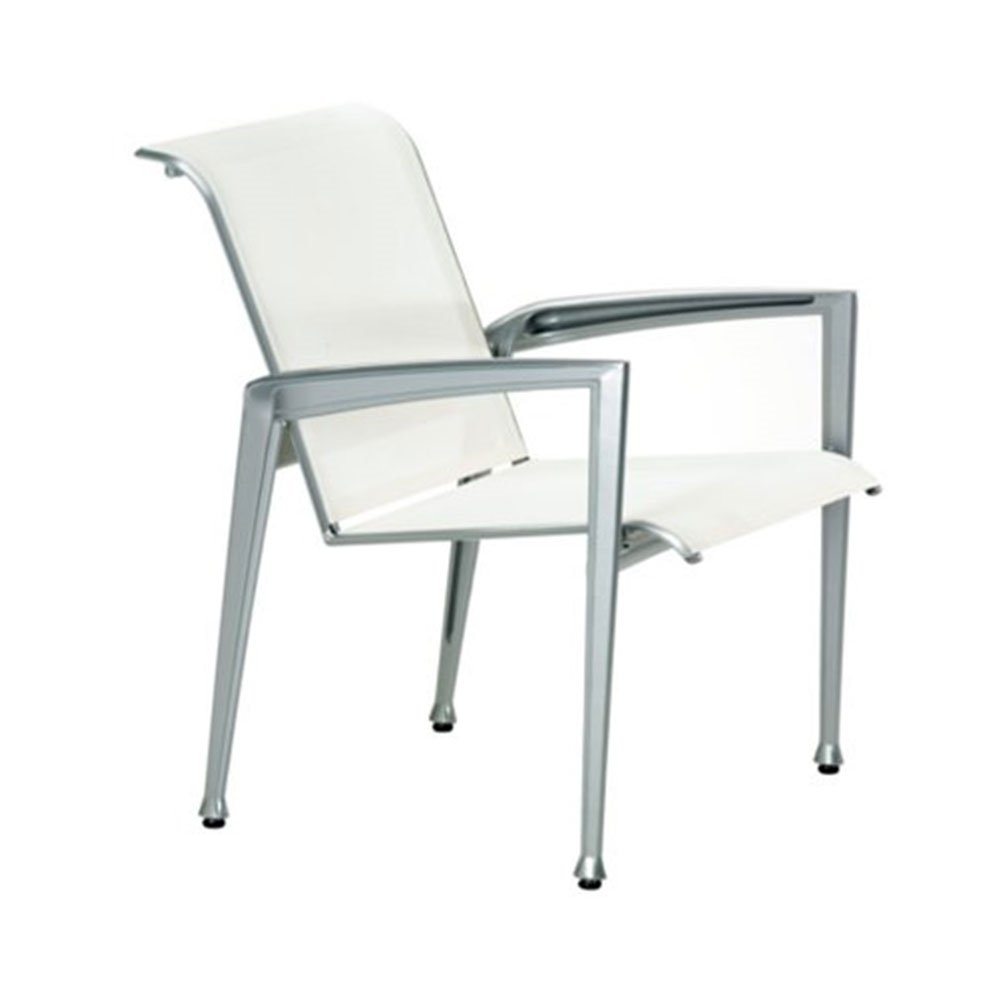 Veer Sling Patio Dining Chair With Aluminum Frame