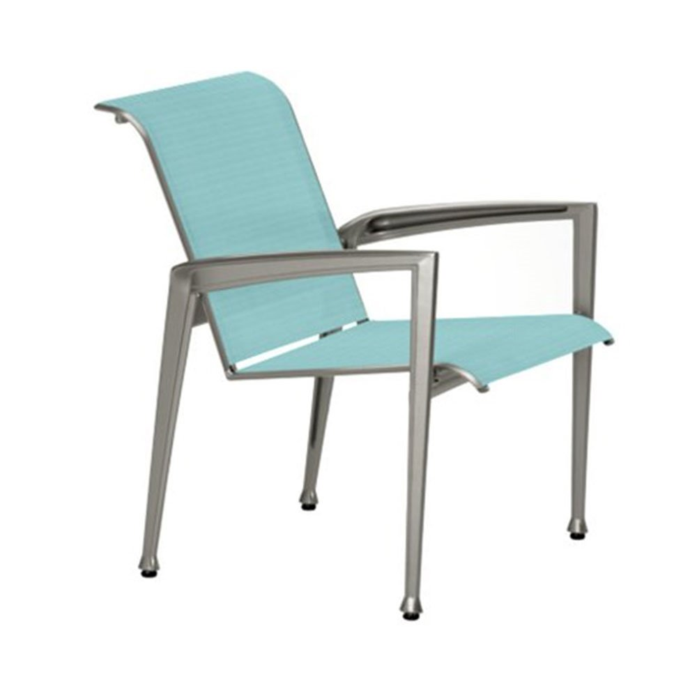 Veer sling patio dining chair with aluminum frame for Aluminum patio chairs
