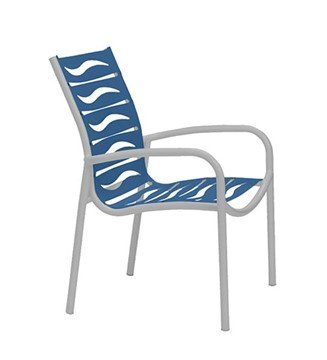 Millennia EZ Span Vinyl Strap Dining Chair With Aluminum Frame