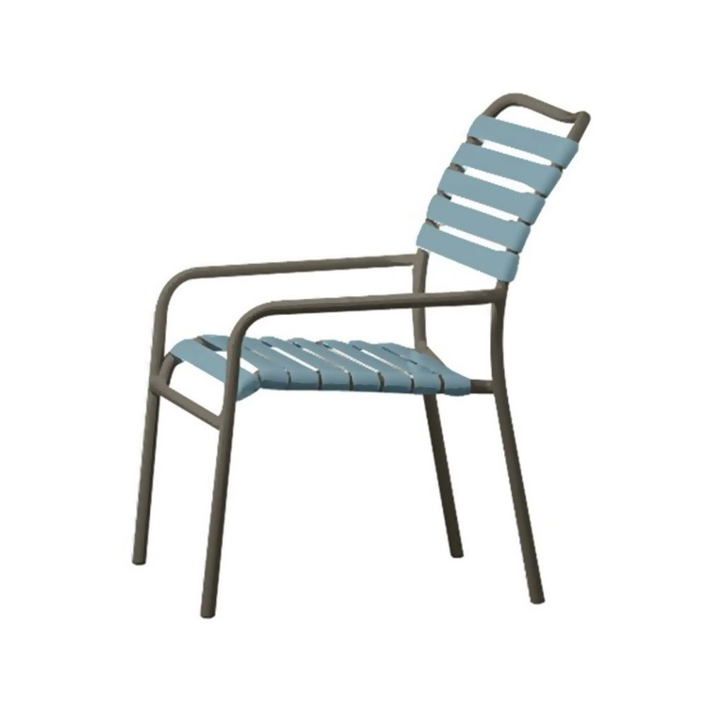 vinyl strap dining chair with aluminum frame furniture leisure