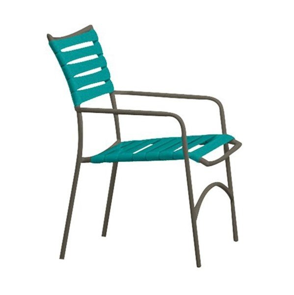 Tropi-Kai Vinyl Strap Dining Chair With Aluminum Frame